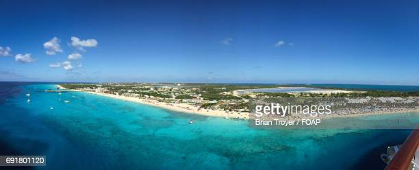 panoramic view of grand turk - turks and caicos islands stock pictures, royalty-free photos & images