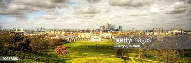 A panoramic view of Greenwich and Docklands