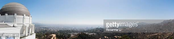 Panoramic view of griffith observatory, Los Angeles, California, USA