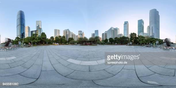 360° panoramic view of guangzhou, china - panoramica a 360 gradi foto e immagini stock