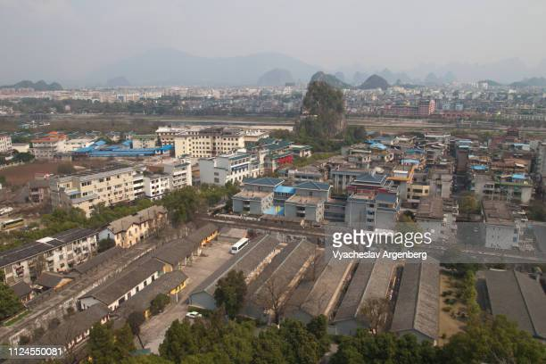 a panoramic view of guilin city, china - argenberg stock pictures, royalty-free photos & images