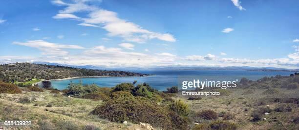 panoramic view of hacettepe bay. - emreturanphoto fotografías e imágenes de stock