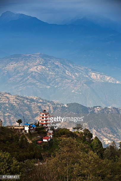 Panoramic view of Himalayas from Nagarkot, Nepal