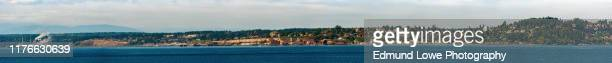 panoramic view of historic port townsend, washington. - victorian stock pictures, royalty-free photos & images