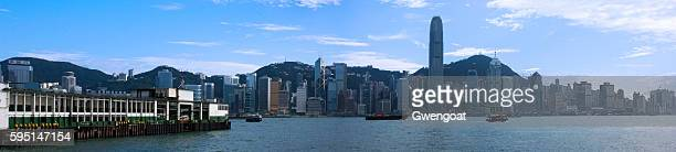 panoramic view of hong kong - gwengoat stock pictures, royalty-free photos & images