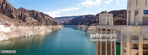 Panoramic View Of Hoover Dam By Lake Mead