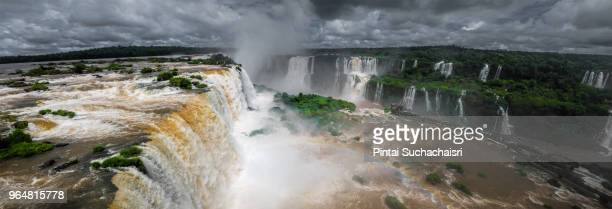 Panoramic View of Iguazu Falls on the Brazillian Side