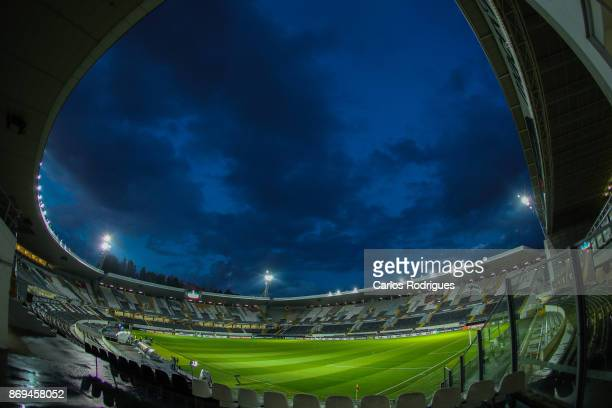 Panoramic view of inside the Stadium before the match between Vitoria Guimaraes and Olympique Marseille match for UEFA Europa League at Estadio da...