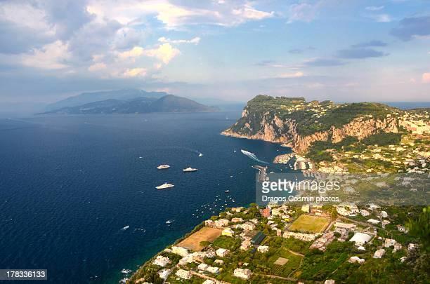 Panoramic view of Isle of Capri,Italy