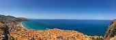 Panoramic view of Italian resort town - Cefalu, Sicily