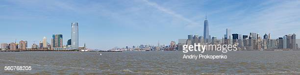 Panoramic view of Jersey City and Lower Manhattan