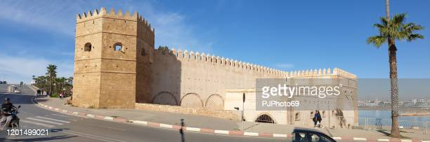 panoramic view of kasbah of the udayas - morocco - pjphoto69 foto e immagini stock