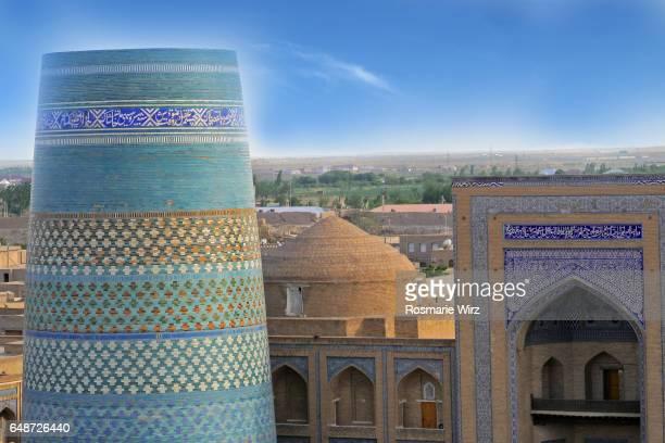 Panoramic view of Khiva Inner City.