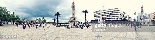 panoramic view of konak square - izmir stock pictures, royalty-free photos & images