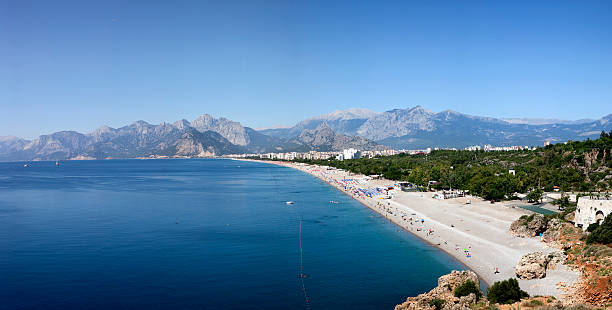 Panoramic view of Konyaalti beach XXXL
