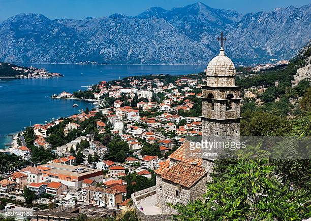 Panoramic view of Kotor and bay