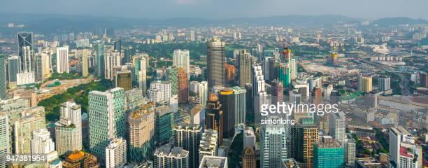 Panoramic View Of Kuala Lumpur Cityscape