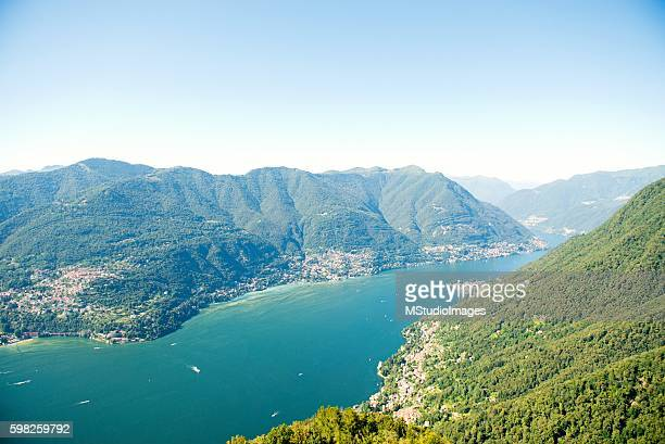 vista panorâmica do lago di como - como itália - fotografias e filmes do acervo