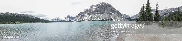 Panoramic view of lake and mountain scenery
