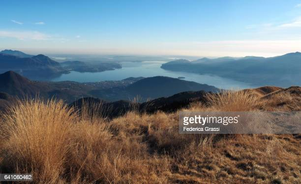 Panoramic View Of Lake Maggiore From Mount Pizzo Pernice