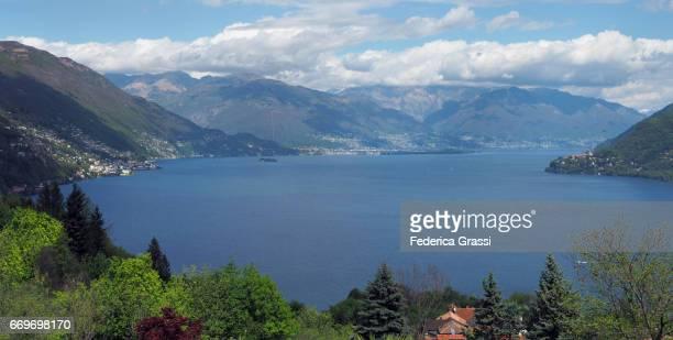 Panoramic View Of Lake Maggiore From San Bartolomeo Mountain Village