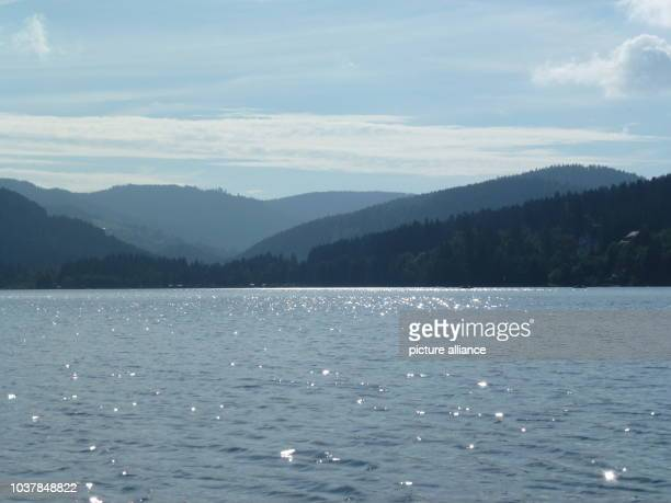 A panoramic view of Lake Titisee and zthe surrounding mountains of the Black Forest in TitiseeNeustadt Germany 4 September 2014 Photo Aexandra...
