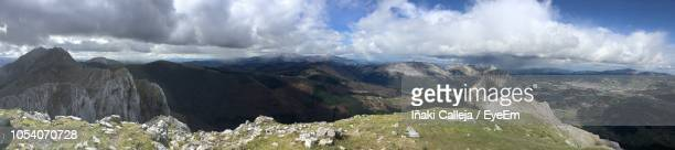 panoramic view of landscape against sky - iñaki mt stock photos and pictures