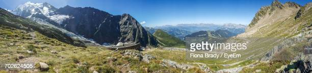 panoramic view of landscape against sky - sallanches stock pictures, royalty-free photos & images