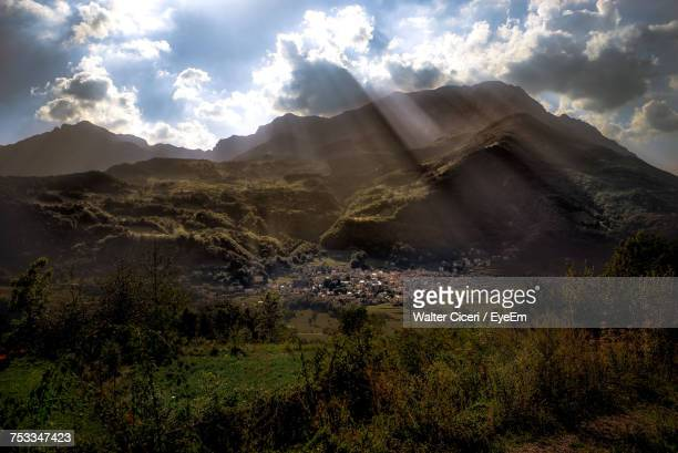 panoramic view of landscape against sky - walter ciceri foto e immagini stock
