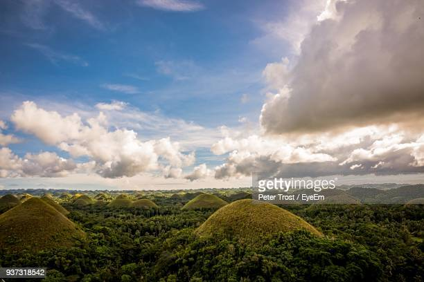 panoramic view of landscape against sky - cebu stock photos and pictures