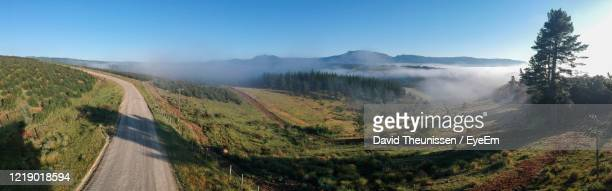 panoramic view of landscape against sky shot with drone - stutterheim stock pictures, royalty-free photos & images