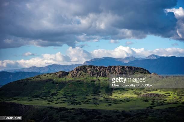 panoramic view of landscape against sky,thousand oaks,california,united states,usa - thousand oaks - fotografias e filmes do acervo