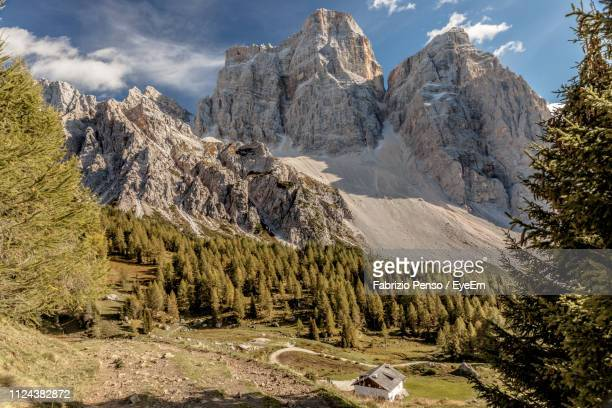 panoramic view of landscape and mountains against sky - fabrizio penso foto e immagini stock