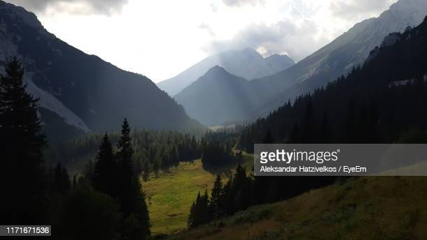 panoramic view of landscape and mountains against sky - kranj stock pictures, royalty-free photos & images