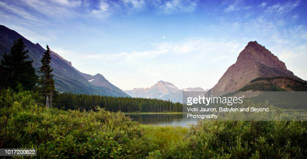Panoramic View of Landscape at Many Glacier, Glacier National Park