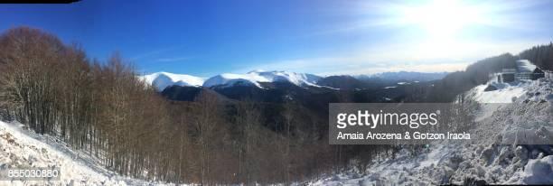 Panoramic view of landscape in Abodi nordic ski resort (Navarre)