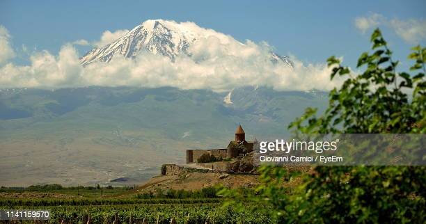 panoramic view of landscape - yerevan stock pictures, royalty-free photos & images