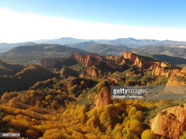 Panoramic view of Las Medulas, Ponferrada. Castile and Leon, Spain.