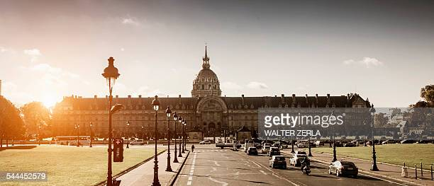 panoramic view of les invalides, paris, france - les invalides quarter stock photos and pictures