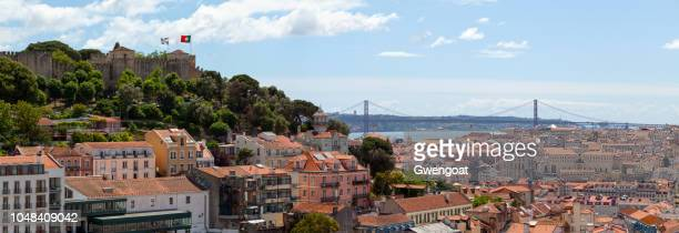 panoramic view of lisbon - gwengoat stock pictures, royalty-free photos & images