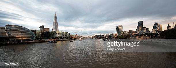 Panoramic view of London along River Thames