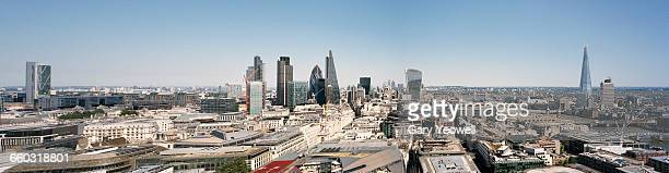panoramic view of london city skyline at sunset - yeowell stock pictures, royalty-free photos & images