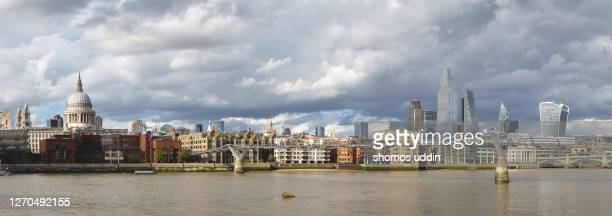 panoramic view of london city skyline - panoramic stock pictures, royalty-free photos & images