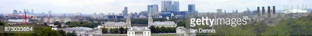 Panoramic view of London from St Paul's Cathedral to The O2
