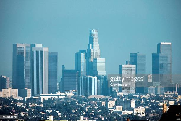 Panoramic view of Los Angeles, Los Angeles, California, USA