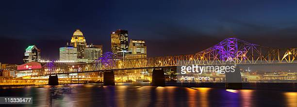 panoramic view of louisville skyline - louisville kentucky stock pictures, royalty-free photos & images