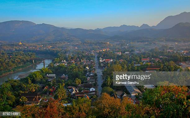 Panoramic view of Luang Prabhang and Mekong
