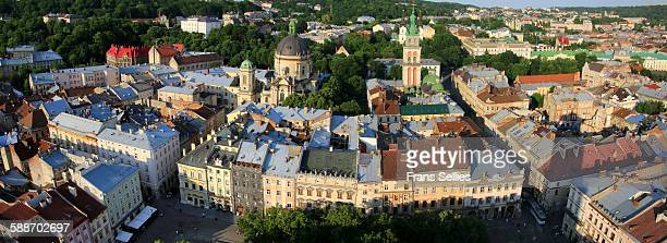 Panoramic view of Lviv, Ukraine