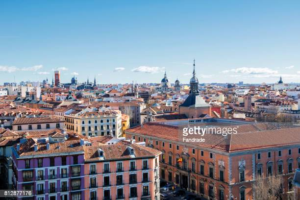 panoramic view of madrid, spain - madrid foto e immagini stock