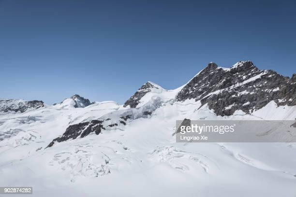 Panoramic view of majestic Jungfrau mountains, Alps, Switzerland
